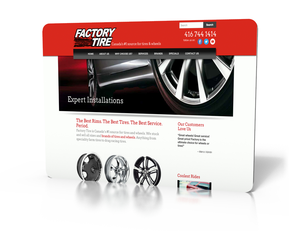 Factory Tire & Rubber Inc.: web & social media outreach