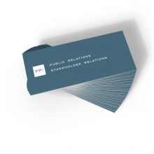 FPI Public Relations marketing materials business cards